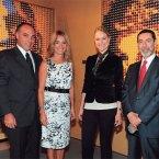 Ricardo Bellino, Marina Bellino, Fabiana Saba e Embaixador Osmar Chohfi
